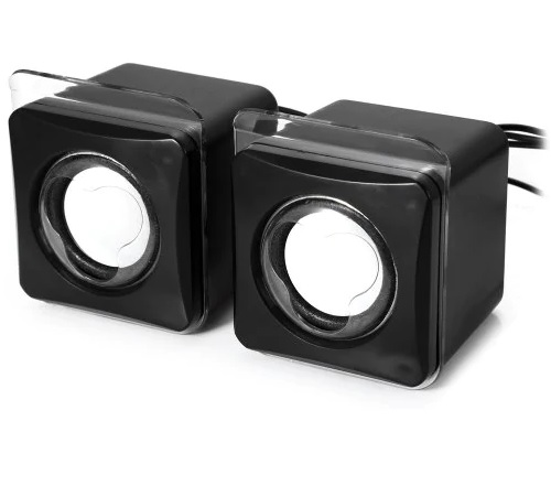Mini Speaker Excellent Acoustic Mini USB2.0 Speaker  Black