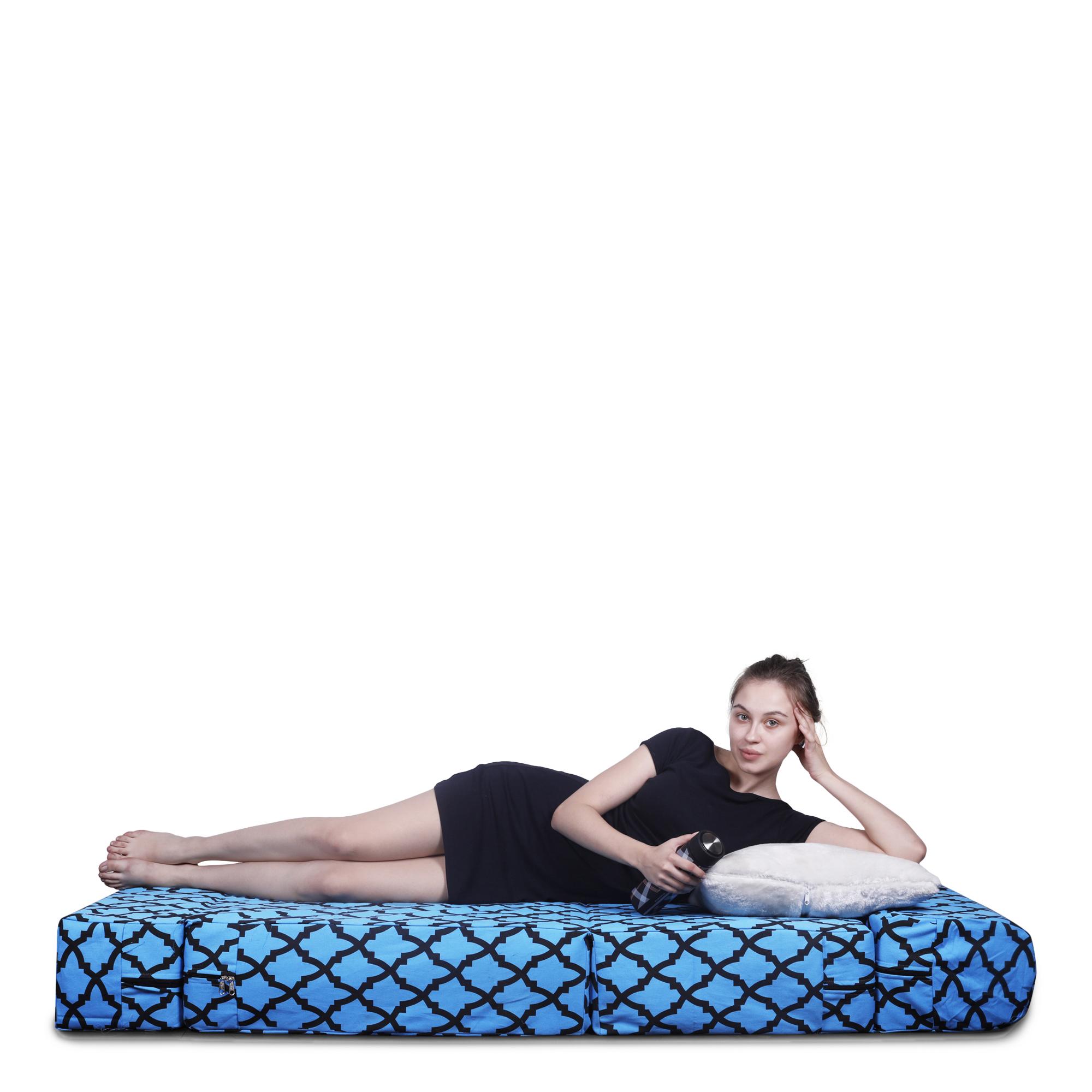 Style Homez Foldable Sofa Cum Bed,3X6 Feet Cotton Canvas