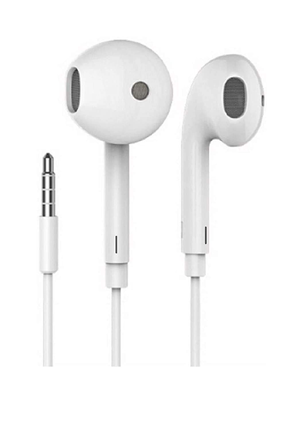 Genric High Bass Wired in Ear Headphones Compatible for All Oppo Smartphones White