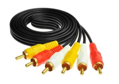 Maxicom TV out Cable 1.5 Meter 3RCA to 3RCA Gold Plated Both Side Male AV 1.5 m RCA Audio Video Cable