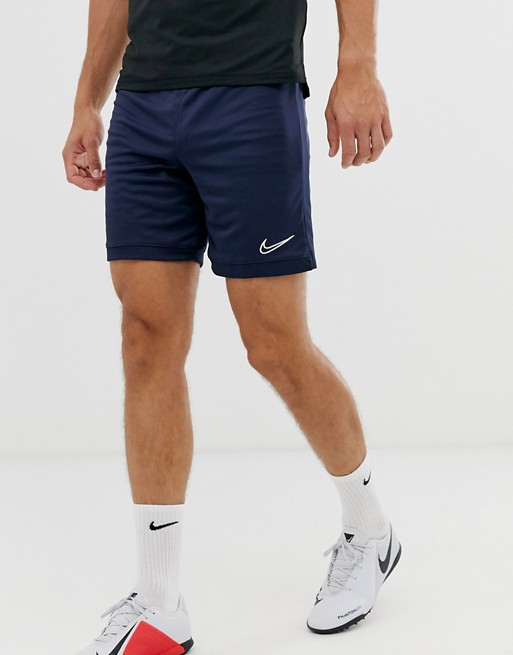 Nike Men Navy Solid Regular Fit Sports Shorts