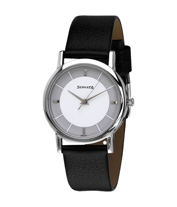 Sonata 7987sl01 analog watch for men