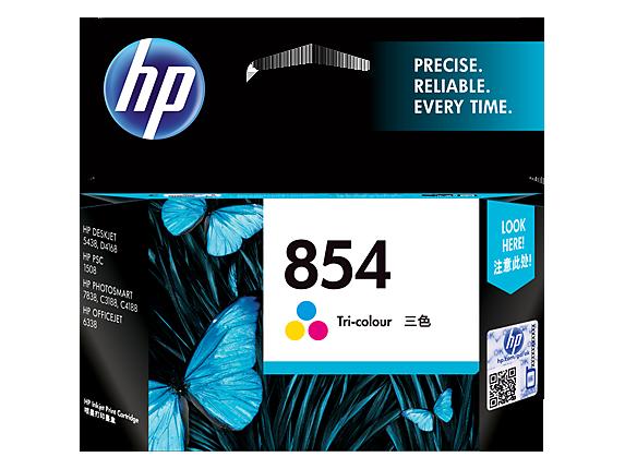HP 854 Tri color Original Ink Cartridge