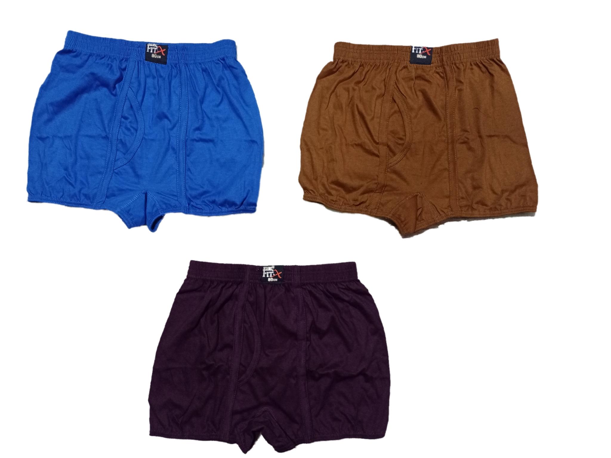 Men's Long Cotton Inner Wear Cotton Brief Gents Full Trunks for Boys Multicolor,Pack of 3
