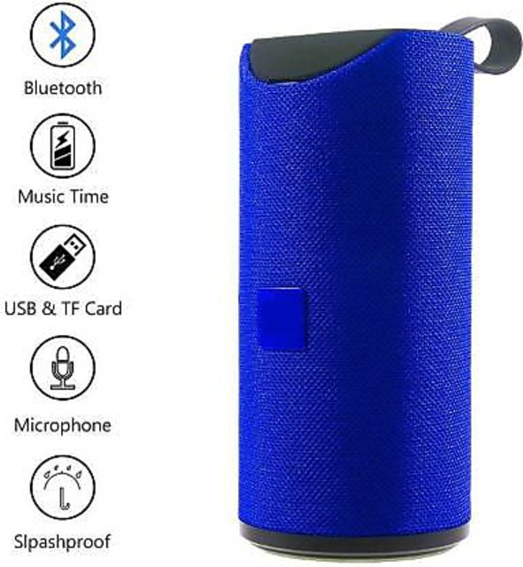 TG113 Super Bass Splashproof Wireless Bluetooth Speaker Best Sound Quality Playing Mobile/Tablet/AUX/Memory Card