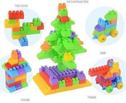 AGS MART 64 Pcs Building Block Toy Kids Puzzle Educational Plastic Development Building Blocks For Kids   Advance Level