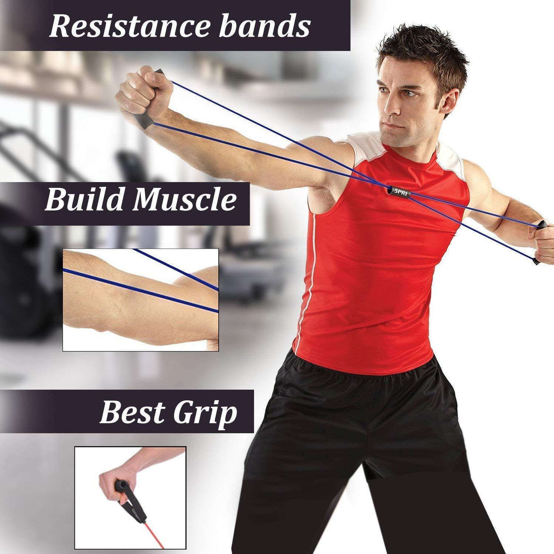 NITLOK Figure 8 Toner Resistance Band Exercise for Yoga Workout, Body Building, Home Gym  Multicolor