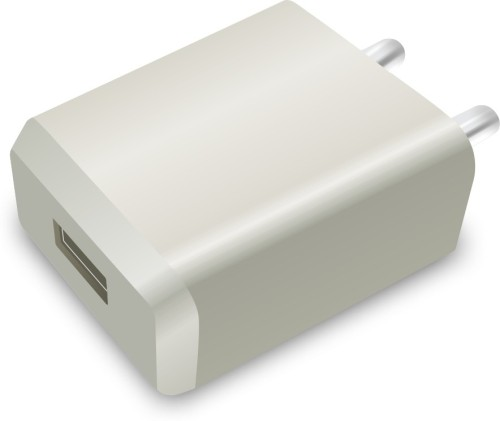 Portronics POR 898 Portable USB Adapter 2.0A Super Quick Charger 2 A Mobile Charger  White