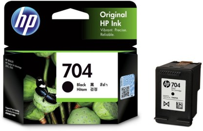 HP 704 Single Black Color Ink Cartridge