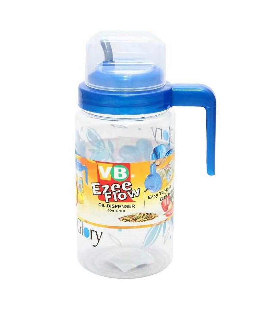 Plastic Ezee Flow Cooking Oil Dispenser/Container  1000 ml, Multicolour