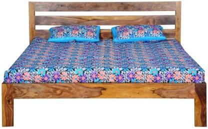 KAP Sheesham Wood Solid Wood King Bed  Finish Color   Teak Finish