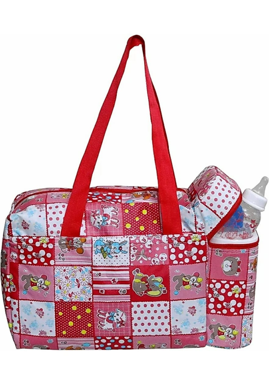Child Chic Mother Baby Diaper Nappy Changing Bag Travel Shoulder Bag  RED