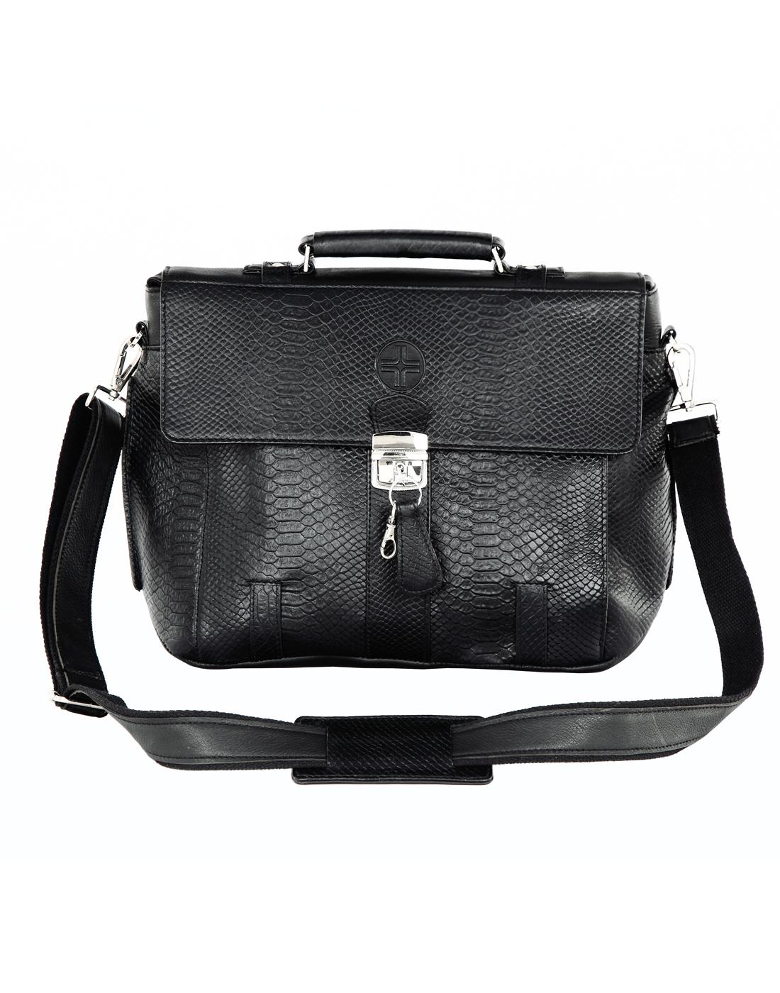 JL Collections Leather Laptop Executive Messenger Bag