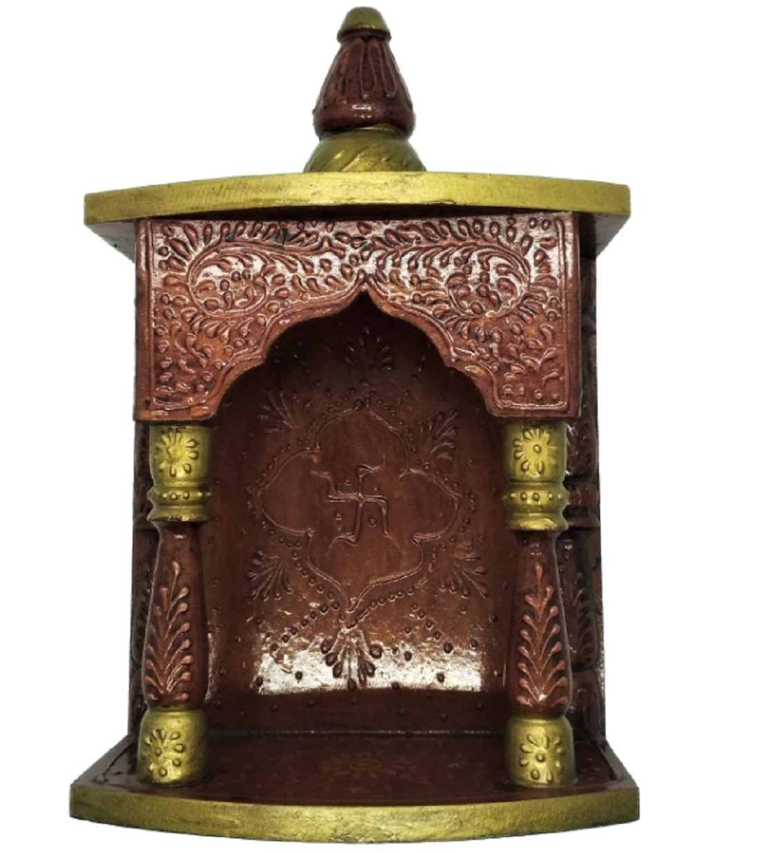METALCRAFTS Temple, wooden, mango wood, table top as well as wall hanging, 13 inch, 32 cm