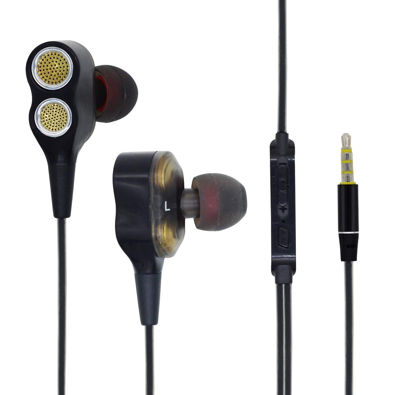 Boom Ultima V2 Dual Driver, in Ear Gaming Wired Headphones with in line Mic, Volume Control