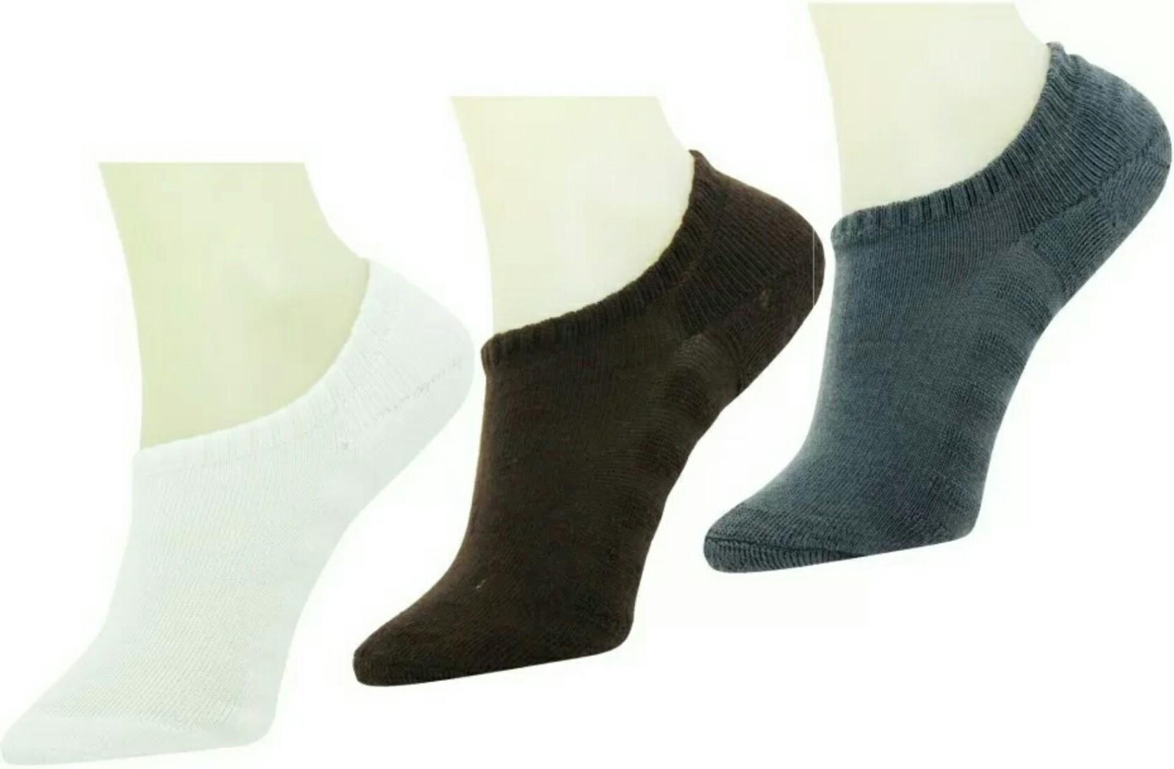 DDH Men Women Self Design Loafer Ankle Length Socks  pack of 3   Towel Base