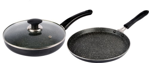 Ethical Mastreo Series Non Stick Dosa Fry Cookware Set With Lid. Cookware Set  Aluminium, 3   Piece