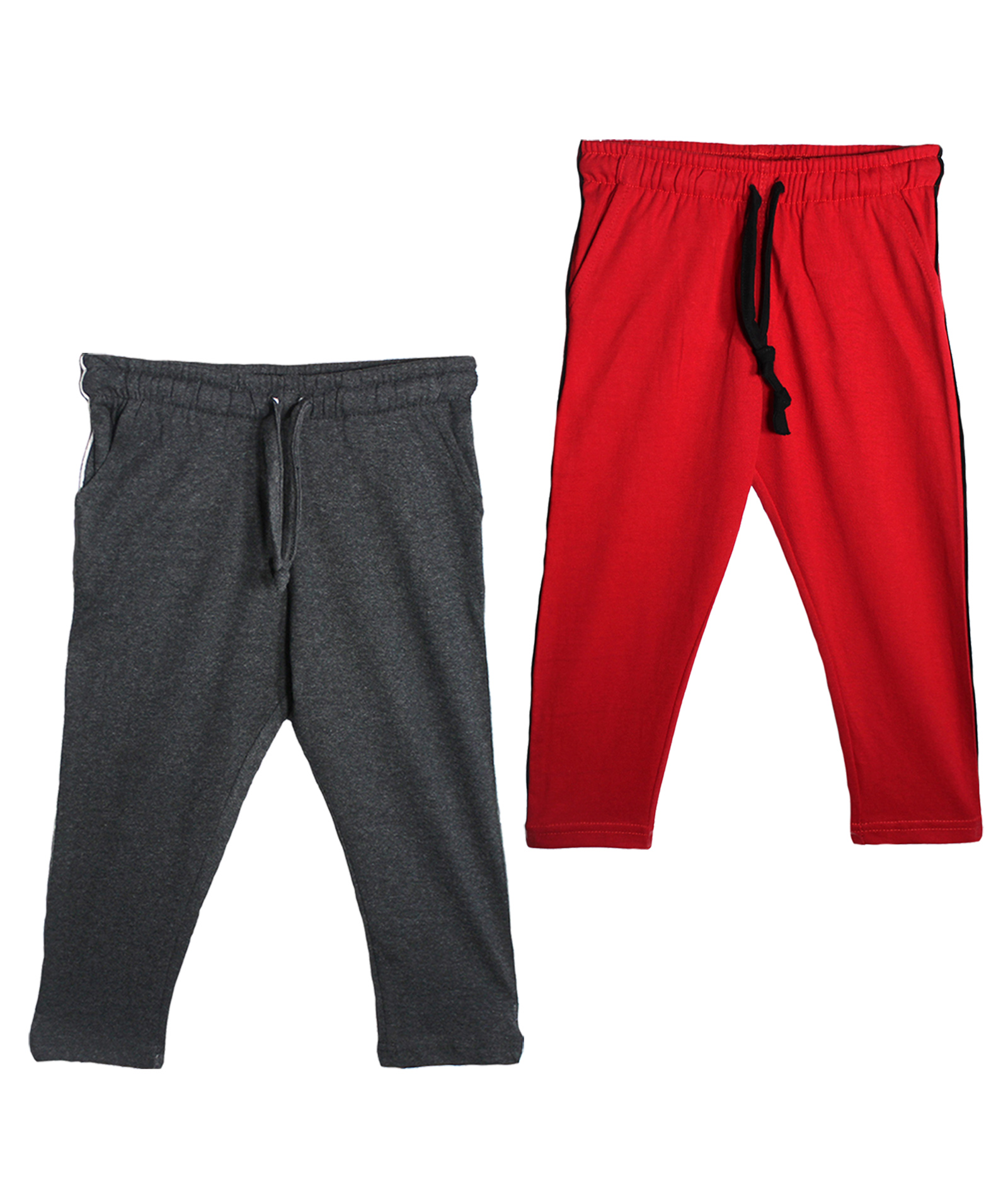 Haoser 100 % Cotton Solid Track Pants for Boys and Girls Regular fit lower   Pack of 2