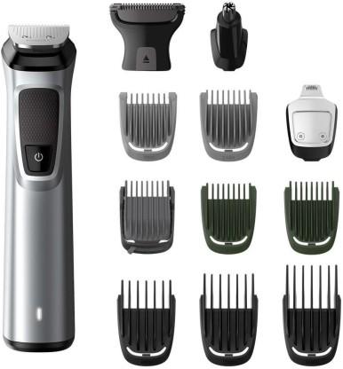 Philips MG7715/15 Multi Grooming Kit For Men Runtime 120 min Trimmer for Men  Silver, Black