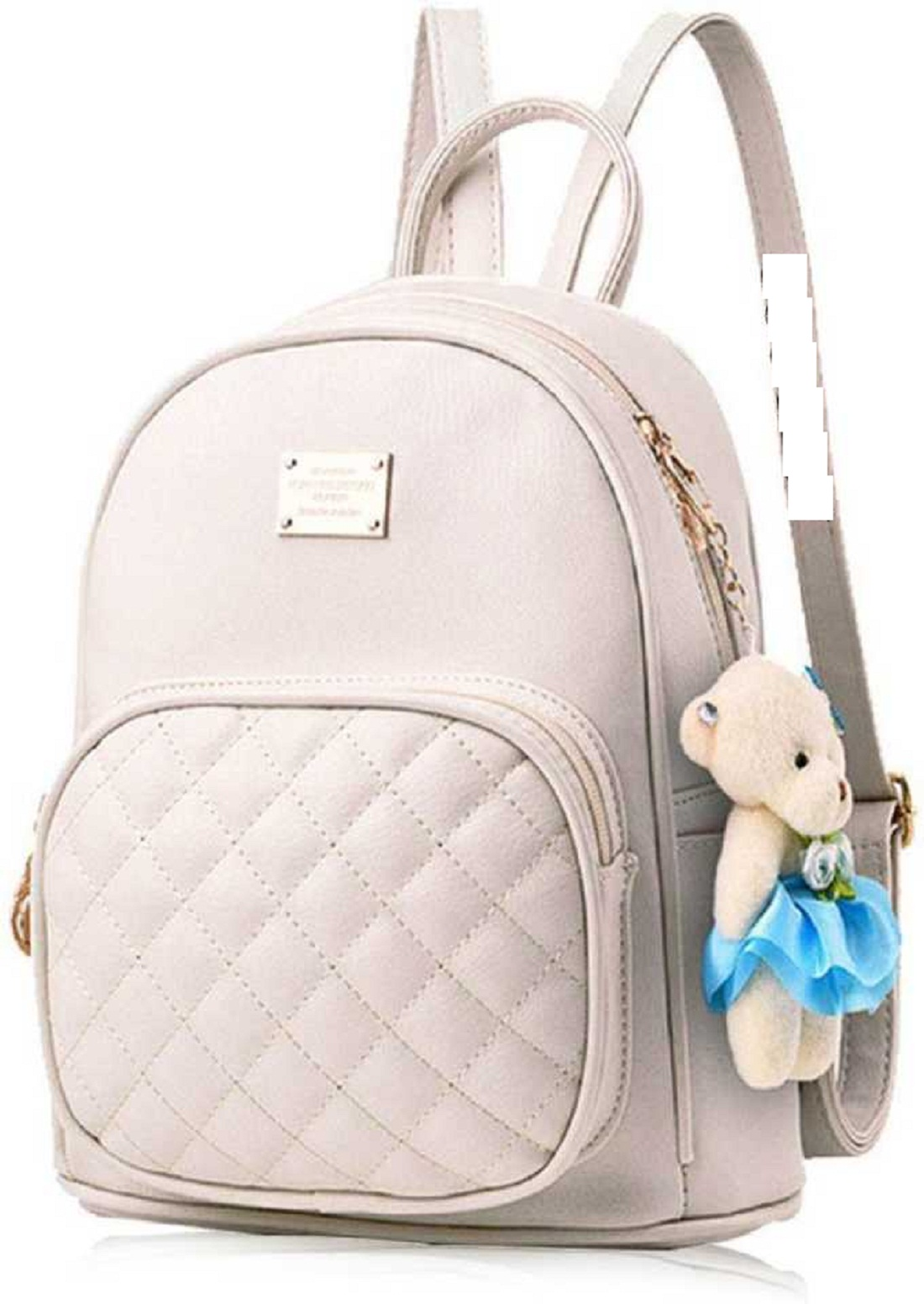 Latest Trendy Teddy Style Women Girls Pu Leather Backpack School Bag Student Backpack Travel Bag Tution Bag Collage Bag