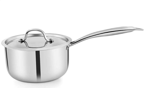 PNB Kitchenmate Sauce Pan 20 cm diameter with Lid  Stainless Steel, Non stick, Induction Bottom