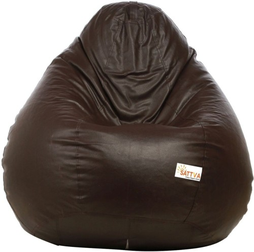 Home Berry XXXL Tear Drop Bean Bag Cover Without Beans   Brown