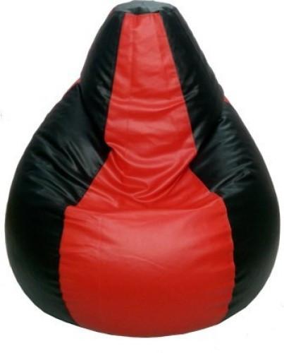 Home Berry XXL Tear Drop Bean Bag Cover Without Beans   Red, Black