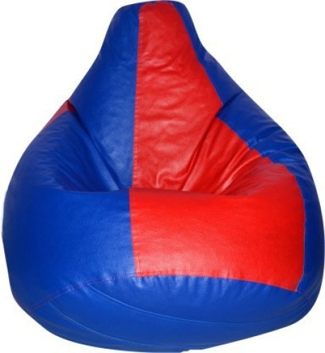 Home Berry XL Tear Drop Bean Bag Cover Without Beans   Red, Blue