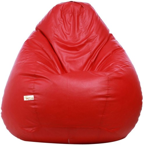 Home Berry XXL Tear Drop Bean Bag Cover Without Beans   Red