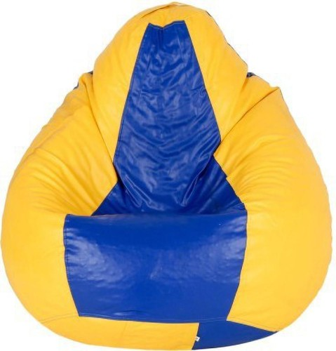 Home Berry XXL Tear Drop Bean Bag Cover Without Beans   Yellow, Blue