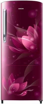 Samsung 192 L Direct Cool Single Door 2 Star  2021  Refrigerator  Saffron Red, RR20A271BR8/NL