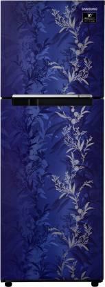 Samsung 253 L Frost Free Double Door 2 Star  2020  Refrigerator  Mystic Overlay Blue, RT28T30226U/NL