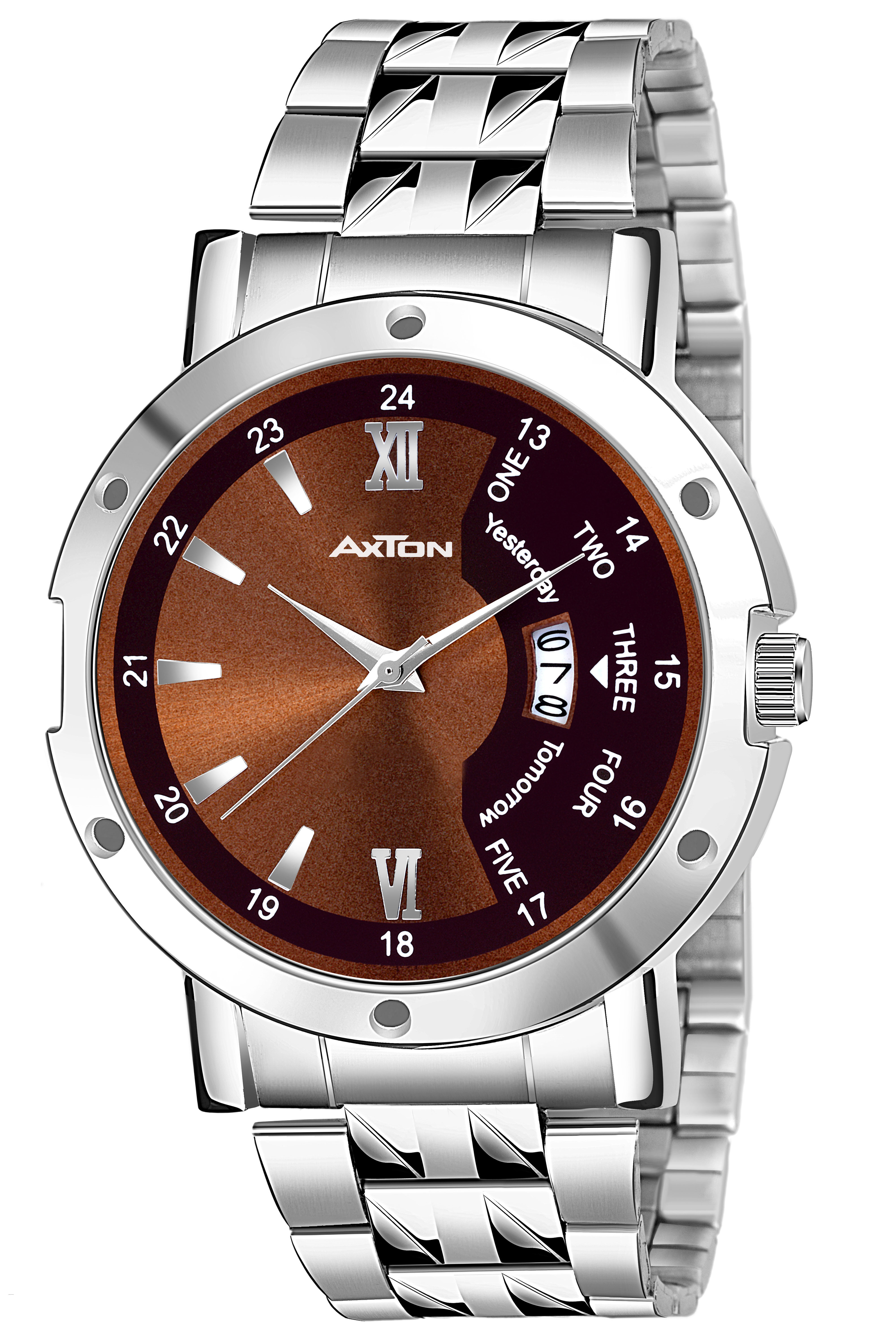 Axton AXT4003 Partywear/Formal/Casual Brown Dail Date Boys Smart Analog Watch   For Men
