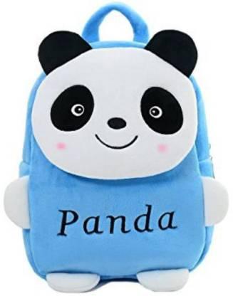 Panda Kids School Bag Soft Plush Backpacks Cartoon Baby Boy/Girl  2 5 Years  Light Blue