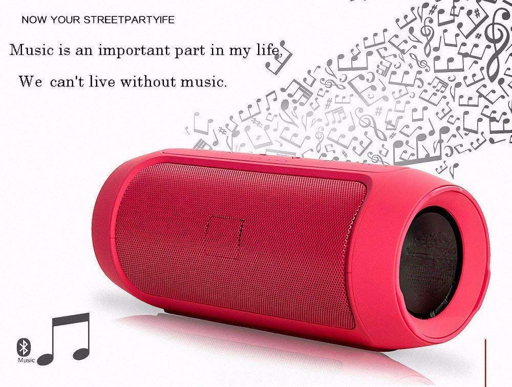 Charge 2 High Bass 3D Stereo Sound Portable Wireless Mobile/Tablet 15 W Bluetooth Speaker