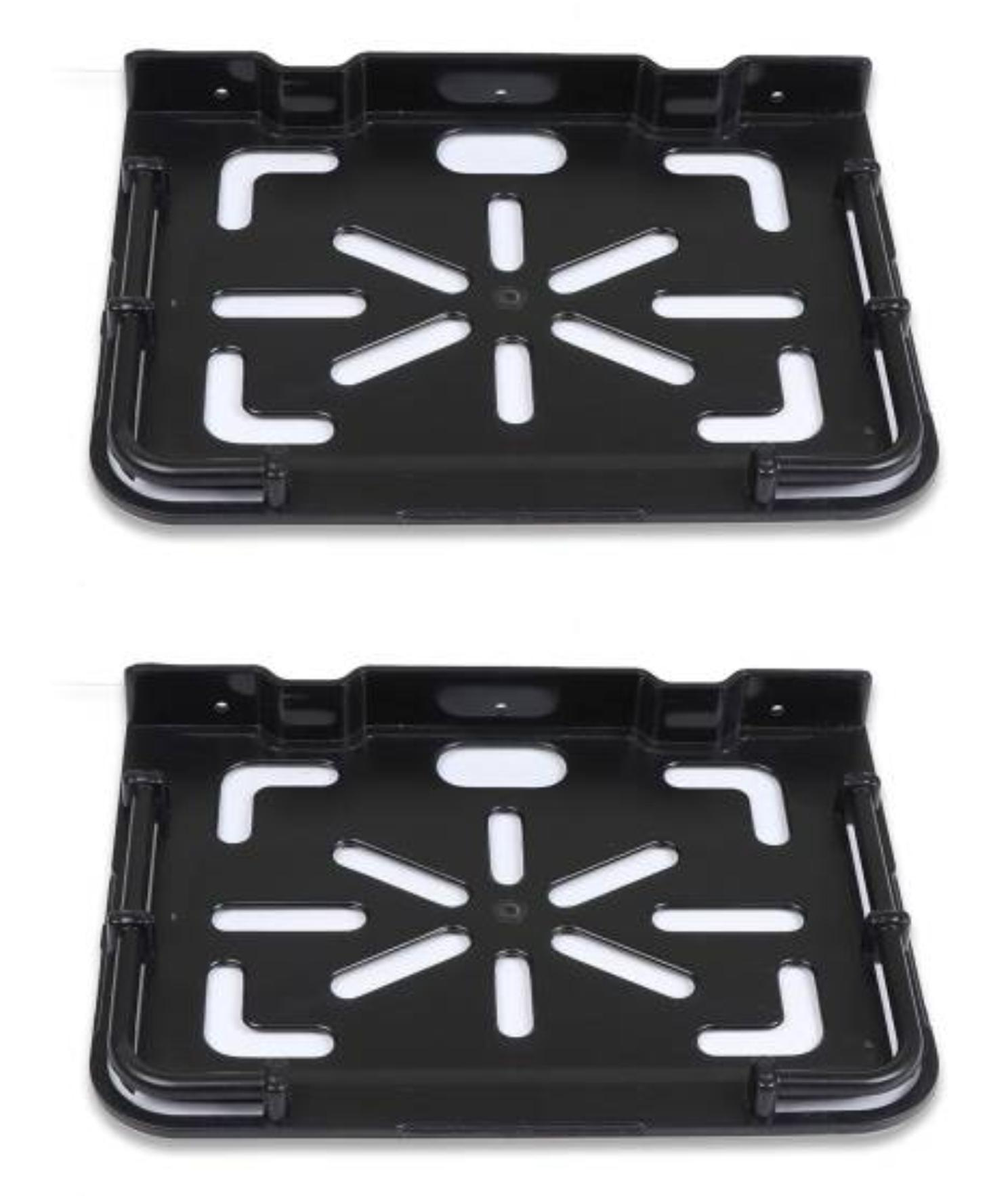 Drizzle Supreme Set Top Box Stand Black, Set Top Box Shelf    Pack of 2 Pieces