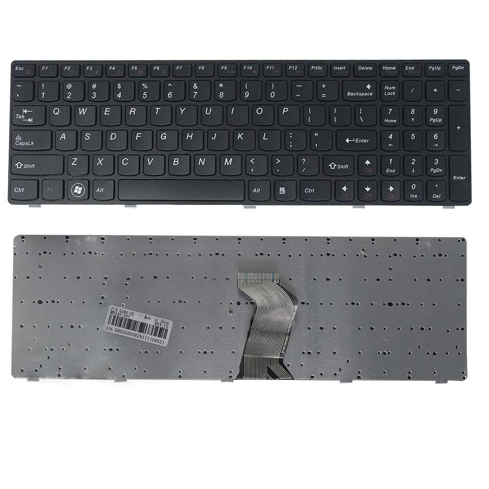 Zikson Laptop Keyboard Lenovo IdeaPad, G580 G580A G585 G585A Series  Black  Compatible