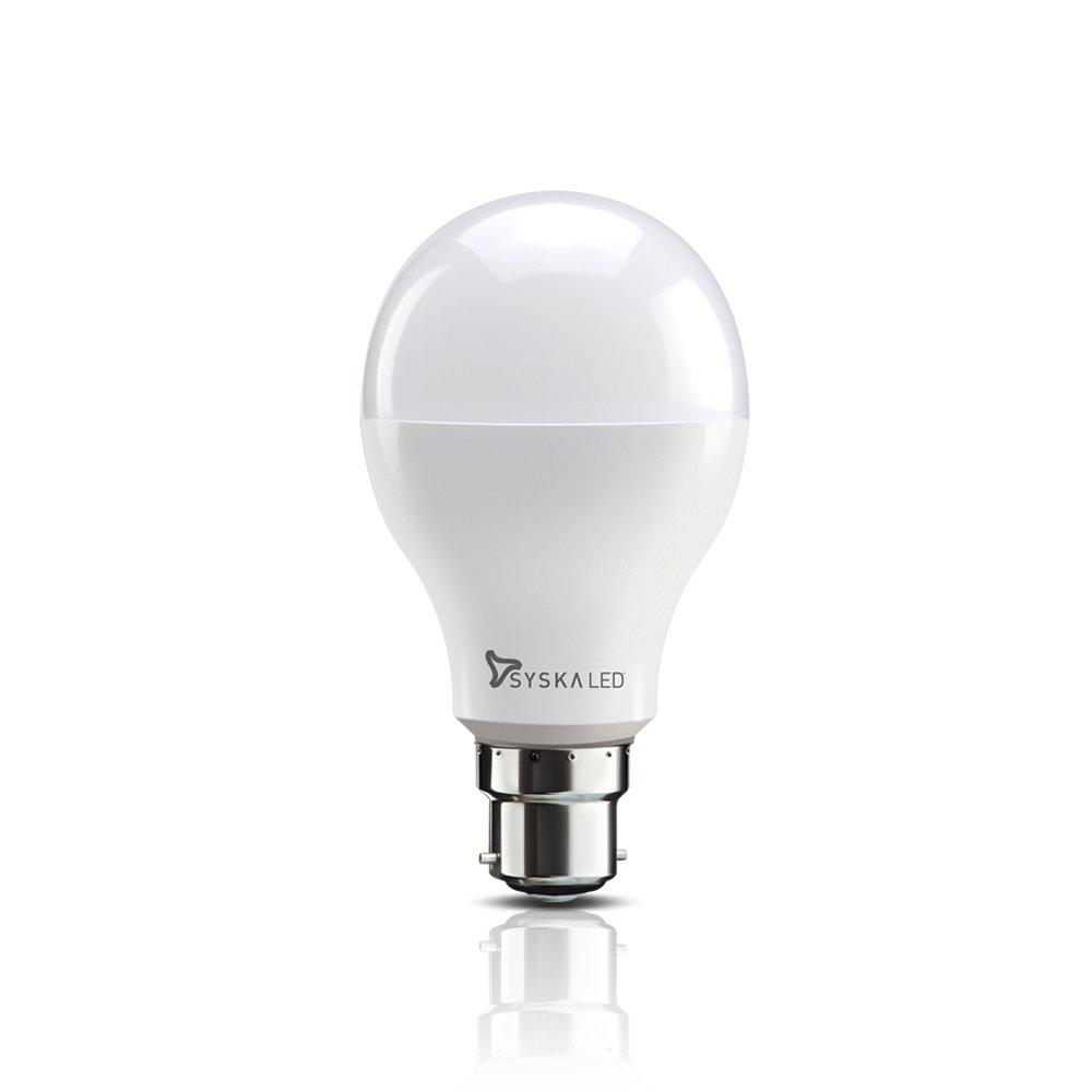 Syska SSK SRL 5W Base B22 5 Watt Unbreakable LED Bulb  Pack of 2 Cool Day Light