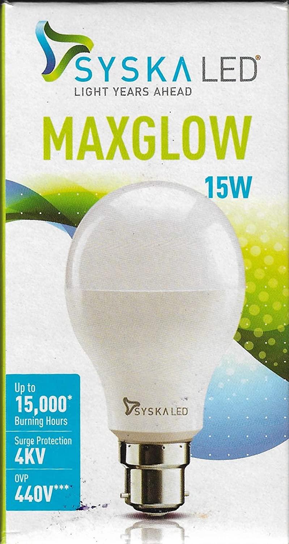 Syska SSK SRL 15W Base B22 15 Watt LED Bulb  Pack of 1 Cool Day Light   Medium