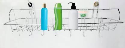 AVMART Stainless Steel Multi Purpose Bathroom Shelves and Rack wall mount Stainless Steel STEELRACKD