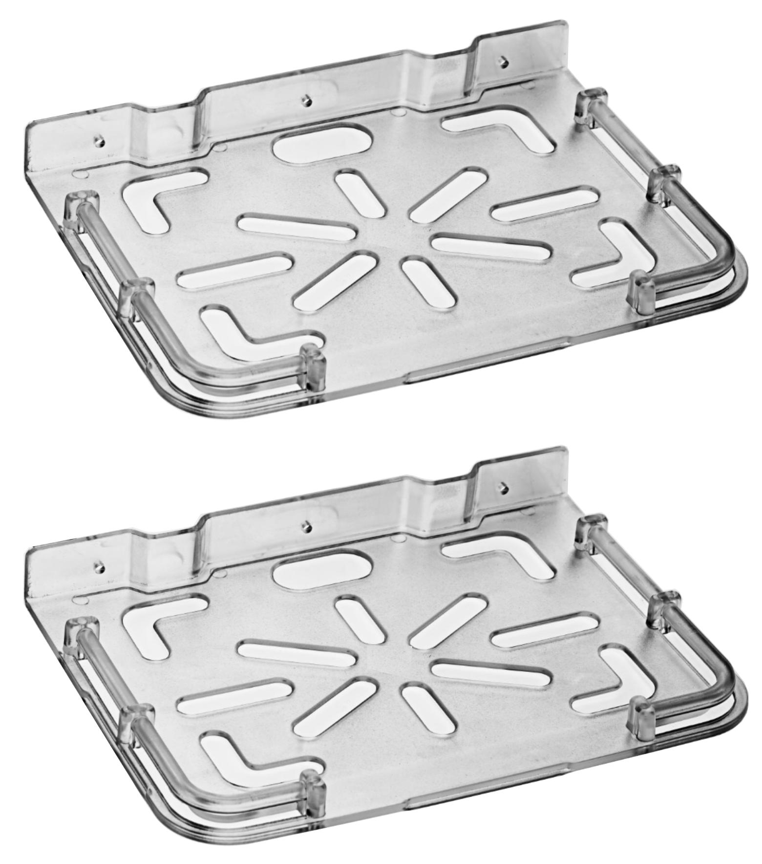 Drizzle Supreme Set Top Box Stand Clear, Set Top Box Shelf Transparent    Pack of 2 Pieces