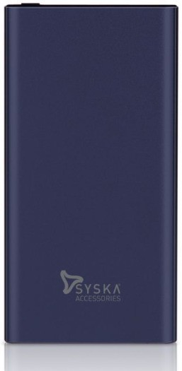 Syska P1023J 10000 mAh Power Bank  Fast Charging   Blue, Lithium Polymer