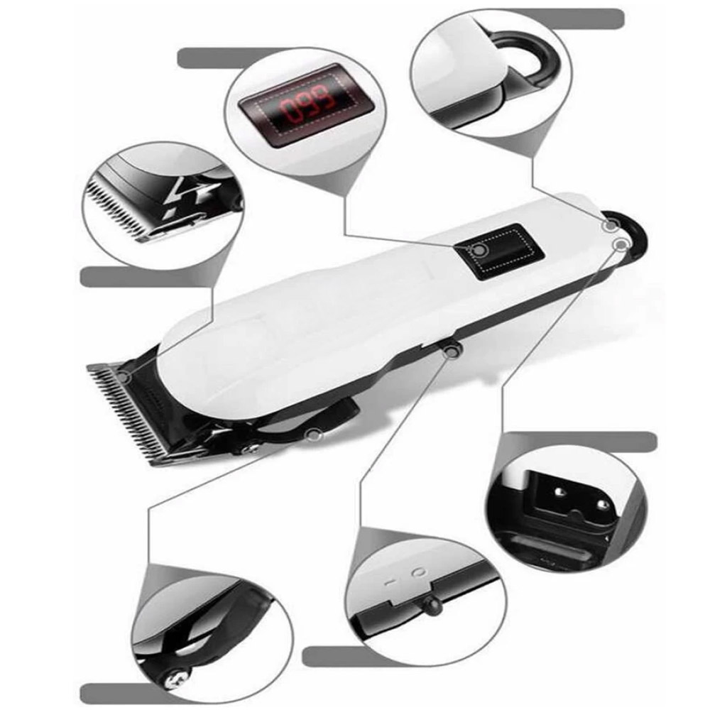 Rechargeable cordless Electric Haircut Machine LCD Display Hair trimmer/shaver/Clipper