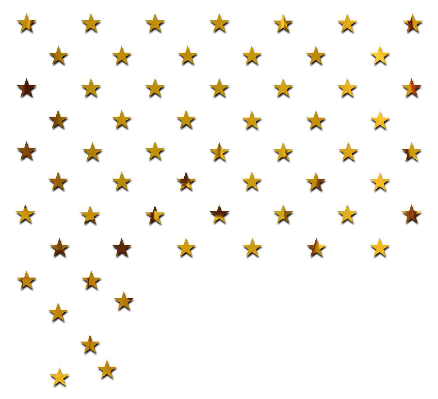 100 Star Golden  Each Piece Size 5 cm  PREMIUM QUALITY 3D Acrylic Mirror wall stickers for home office