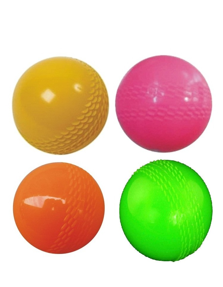 Madurai Products Strong Plastic Cricket Ball size for Indoor and Outdoor Games   4 pieces.