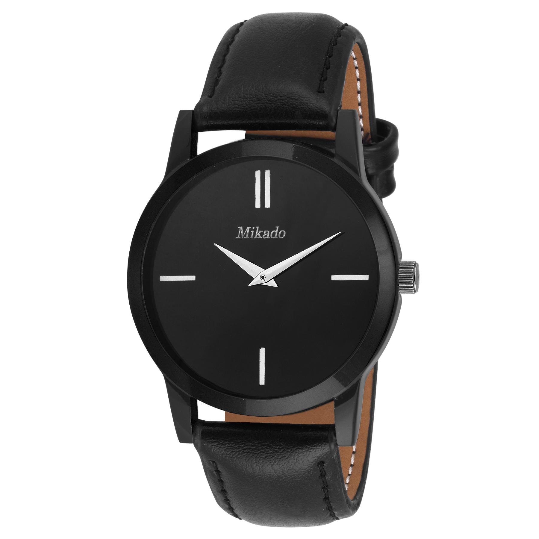 Mikado Stylish Black Slim Analog Men's Watch
