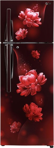 LG 284 L Frost Free Double Door 2 Star Convertible Refrigerator  Scarlet Charm, GL T302RSCY