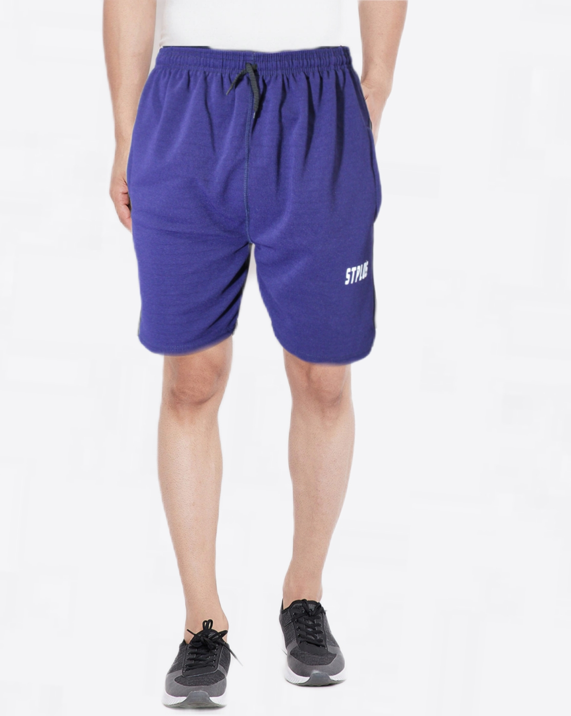 VANTAR Solid Men Blue Basic Shorts