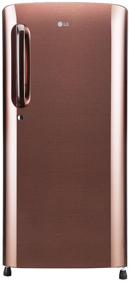 LG 190 L Direct Cool Single Door 3 Star Refrigerator  Amber Steel, GL B201AASC