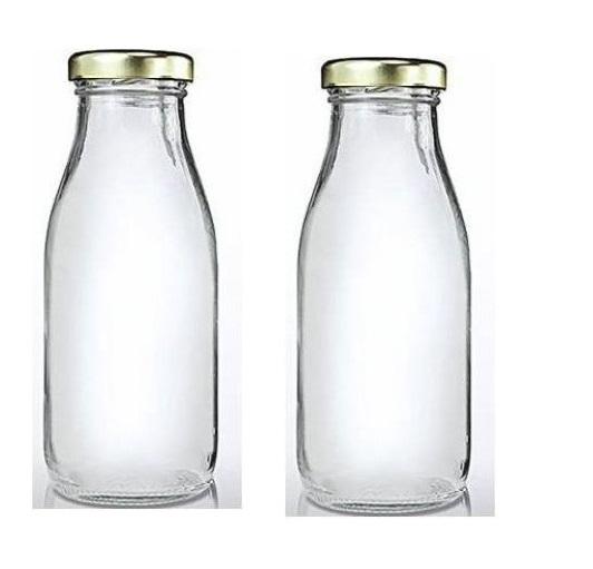 Glass Water/Milk/Juice Bottle 500 ML Set of 2 PCS